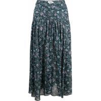 Isabel Marant Étoile Gathered Floral Maxi Skirt - Verde