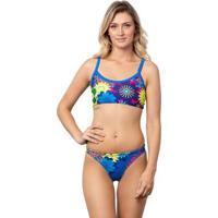 Sunkini Kauna Swim Tropical Summer - Feminino-Azul Claro