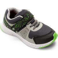 Tênis Infantil No Stress Detalhe Velcro Running - Masculino