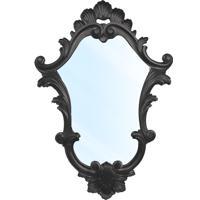 Espelho Clássico Verona Em Resina E Pintura Em Laca Preta