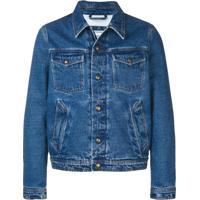 Ami Paris Jaqueta Jeans Com Forro - Azul