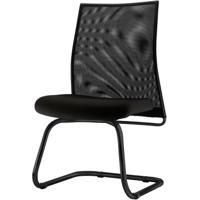 Cadeira Liss Assento Crepe Base Fixa Preta - 54651 - Sun House
