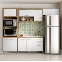 Cozinha Compacta Crespo 8 Pt 3 Gv Argila E Branco