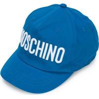 Moschino Kids Boné Com Logo Bordado - Azul