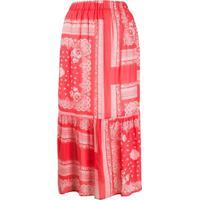 Semicouture Bandana-Print Maxi Skirt - Vermelho