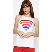 Blusa Wifi- Branca & Vermelhahering