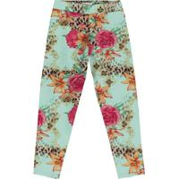 Legging Floral - Verde Claro & Rosa- Kids - Trictrick Nick