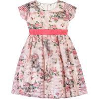 Vestido Floral - Rosa & Verde- Marisolmarisol