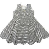 Vestido Infantil Gira Baby Kids Com Pregas Preto