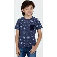 Camiseta Infantil Estampa Planetas Marisa