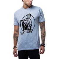Camiseta Ukkan Skull Skate Masculina - Masculino-Mescla