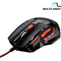 Mouse Optico Xgamer Fire Button Usb 2400Dpi Preto E Vermelho - Multilaser Mo236