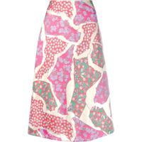 Marni Patchwork Skirt - Rosa