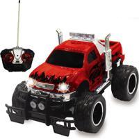 Carrinho De Controle Remoto Trucks Radicais - Vermelho - Unik Toys