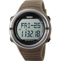 Relógio Skmei Digital Pedômetro 1111 Marrom