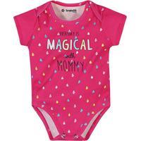 Body Gotinhas Com Inscriã§Ã£O- Pink & Azul Claro- Babybrandili