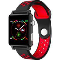 Smartwatch B71 Relógio Inteligente Pedômetro À Prova D' Água Sono - Vermelho