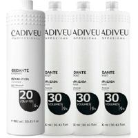 Kit Cadiveu Emulsão Reveladora Oxidante 20 + 3- 30 Volumes - Feminino-Incolor