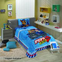 Edredom Patrulha Canina® - Solteiro- Azul & Vermelholepper