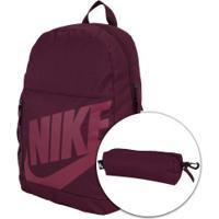 Mochila Nike Elemental Ya - Infantil - 20 Litros - Vinho