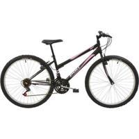 Bicicleta Mtb Aro 26 Feminina 18 Marchas V-Brake Rígida De Aço Polimet - Feminino