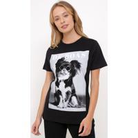 Blusa Com Estampa Cachorro De Boas