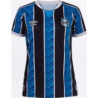 Camisa Grêmio I 20/21 S/N° Torcedor Umbro Feminina - Feminino