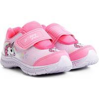 Tênis Infantil Happy Luck Etampado Unicórnio Feminino - Feminino-Pink
