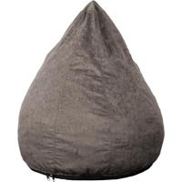 Puff Confort Pera Suede Cinza 90 Cm