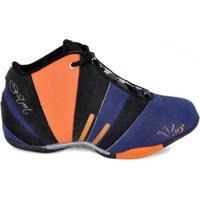 Tênis De Basquete D&R Shoes Masculino - Masculino-Azul+Preto