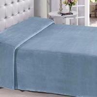 Manta Buettner Casal Microfibra Azul Oceano Lisa Extra Brilho Flannel Fleece