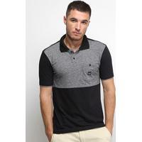 Camisa Polo Nicoboco Slim Fit Sicily Masculina - Masculino-Preto