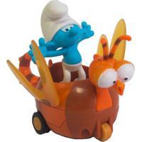 Veículo Com Mini Figura - Smurfs - Clumsy Smurf E Spitfire - Sunny