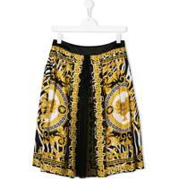 Young Versace Camisa Com Estampa Savage Barocco - Amarelo