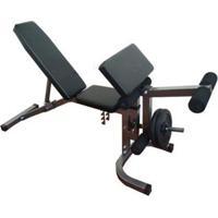 Banco De Supino Wct Fitness 378 Estação De Musculação Aparelho Ginastica Preto