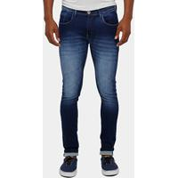 4d8a4a356 ... Calça Jeans Skinny Preston Stone Elastano Risca Masculina - Masculino- Jeans