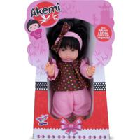 Boneca Japonesa Akemi Com Roupinha De Bolinhas - Cortex