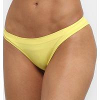 Calcinha Tanga Lupo Básica - Feminino-Amarelo