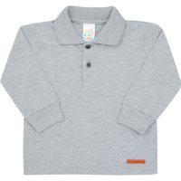 Camisa Polo Mescla Cinza - Bebê - Menino Meia Malha 45257-567 Polo Cinza - Bebê Menino Meia Malha Ref:45257-567-P