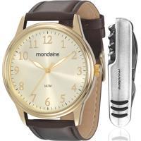 Kit Relógio Mondaine Masculino Com Canivete 83284Gpmvdh2K1