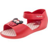 Sandália Infantil Baby Minnie Fun Grendene Kids - 21869 Vermelho