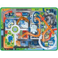 Tapete De Atividades Infantil Hot Wheels Fun Radical C/ 2 Carrinhos