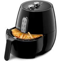 Fritadeira Elétrica Air Fryer Preta Sem Óleo 3,5L 220V