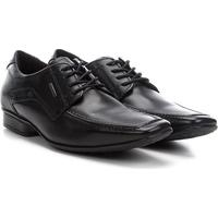 Sapato Social Couro Pegada Bico Reto Masculino - Masculino-Preto