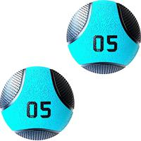 Kit 2 Medicine Ball Liveup Pro C 5 Kg Bola De Peso Treino Funcional Lp8112-05