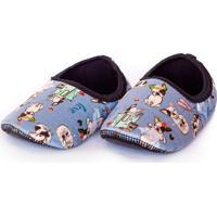 Sapato De Neoprene Infantil Fit Dog Ufrog Azul