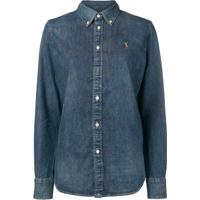 Polo Ralph Lauren Camisa Jeans Com Botões - Azul