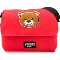 Moschino Kids Bolsa Maternidade Com Patch De Teddy Bear - Vermelho