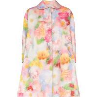 Shushu/Tong Casaco Abotoamento Simples Com Estampa Floral - Rosa