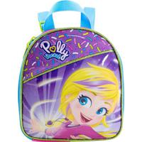 Lancheira Polly Pocket®- Rosa & Roxa- 21X19X10Cmxeryus